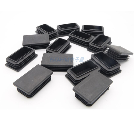 Plastic Rectangular Pipe End Caps Tubing Insert Plugs