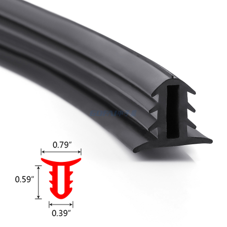 Car Dashboard Windshield Edge Gap Central Console Sound Insulation Seal Strip