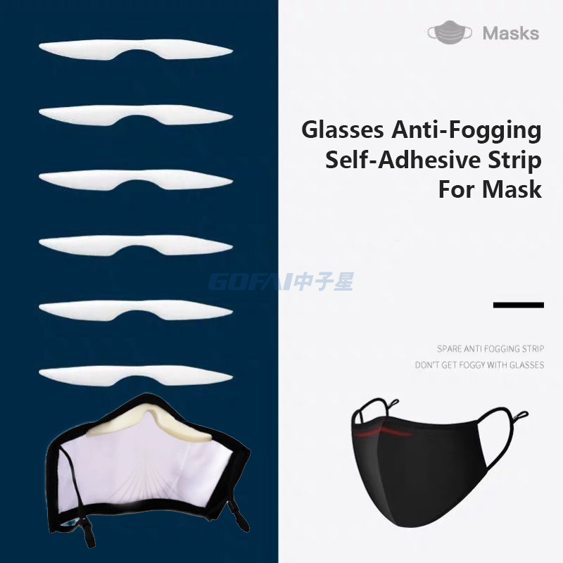 Microfiber Anti-Fog Sponge Nose Bridge Self-Adhesive Protection Pads For Mask