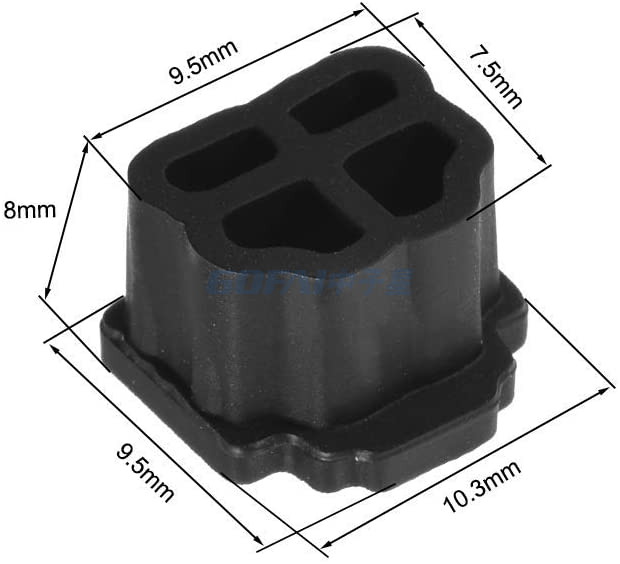 Silicone RJ11 Female Jack Anti Dust Cover Cap Protector