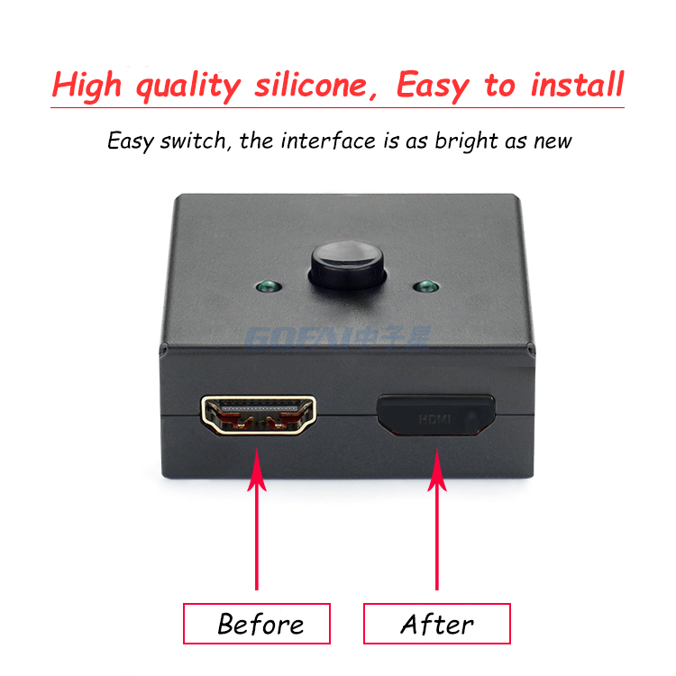 Silicone TV HDMI Anti-Dust Stopper Cap Cover For Female Port