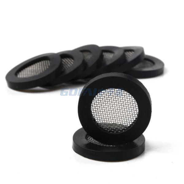 Shower Head Stainless Steel Filter Mesh Silicone Gasket